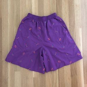 Vintage Funky High Waist Culotte Shorts Small